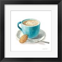 Framed Wake Me Up Coffee I on White