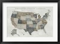 Framed Slate US Map