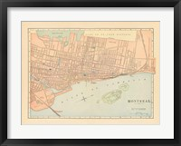 Framed Map of Montreal