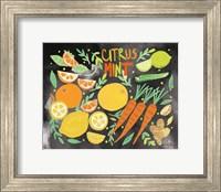 Framed Fruitie Smoothie IV on Black