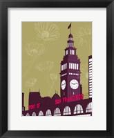 Framed Ferry Building - San Francisco