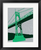 Framed St. Johns Bridge - Portland