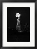 Framed Full Moon New York