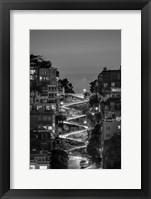 Framed Lombard Street BW