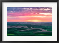Framed Palouse Sunset