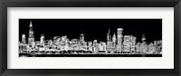 Framed Chicago Skyline Fractal