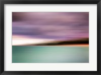 Framed Turquoise Waters Blurred Abstract