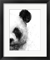 Framed Panda At Attention