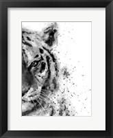 Framed Tiger At Attention