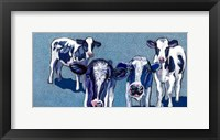 Framed Four Cows