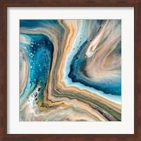 Framed Blue Agate Geode