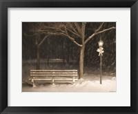Framed Snowy Bench