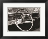 Framed Chevy Steering Wheel