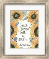 Framed Peace Mother Teresa