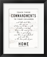 Framed Teach These Commandments