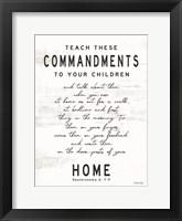 Framed Teach These Commandments