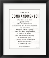 Framed Ten Commandments