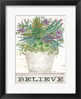 Framed Believe Succulents