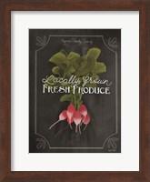 Framed Fresh Radishes