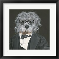 Framed Dog in Suit