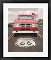 Framed Dodge on Route 66