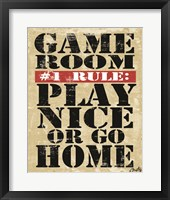 Framed Game Room #1 Rule