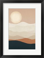 Framed Mojave Mountains and Moon Crop
