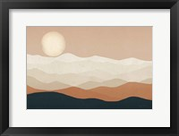 Framed Mojave Mountains and Moon