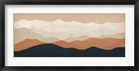 Framed Terra Cotta Sky Mountains