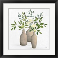 Framed Natural Bouquet II White