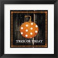 Framed Trick or Treat Pumpkin
