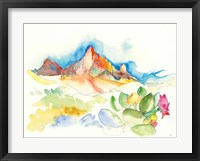 Framed Desert Mountains