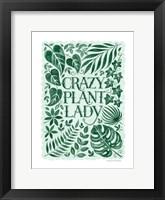 Framed Crazy Plant Lady