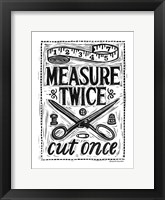 Framed Measure Twice I