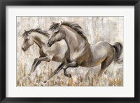 Framed Running Horses
