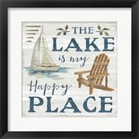 Framed Lakeside Retreat IX