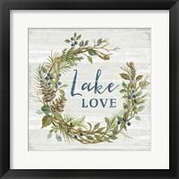 Framed Lakeside Retreat IV