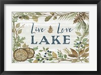 Framed Lakeside Retreat III