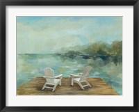Framed Lakeside Retreat I no Wood