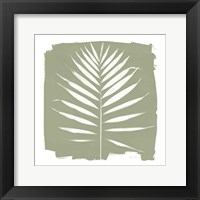 Framed Nature by the Lake - Frond IV Warm Sq