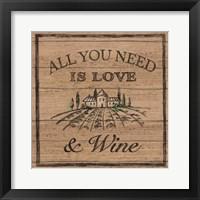 Framed Sweet Vines VII