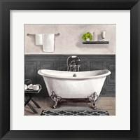 Framed Serene Bath II black & white