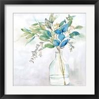 Framed Eucalyptus Vase Navy I