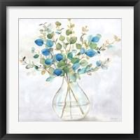 Framed Eucalyptus Vase Navy II