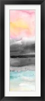 Framed Pink Sunset Abstract panel II