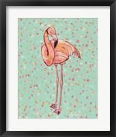 Framed Flamingo Portrait I