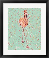 Framed Flamingo Portrait II