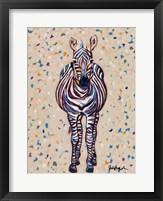 Framed Fruit Stripe Zebra