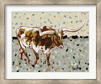 Framed Longhorn Steer
