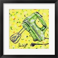Framed Kitchen Sketch Mixer
